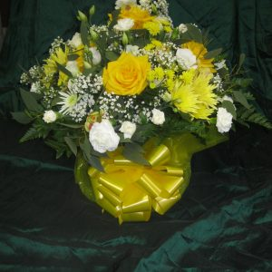 raised posy tribute