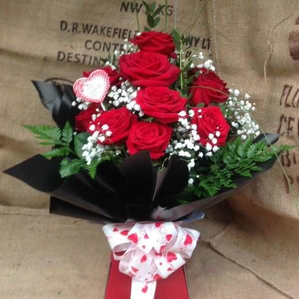 Valentines 1❤️12red rose aqua